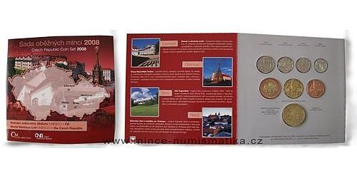 Sada oběžných mincí ČR 2008 Památky Unesco