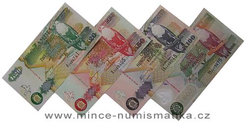Zambie - série 4 kusů bankovek UNC