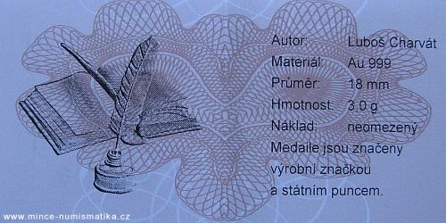 medaile_Gaudeamus_Au_mala_certifikat