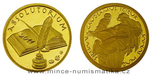 Medaile k zakončení studia - GAUDEAMUS (Au)