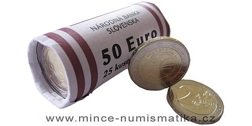 1 rulička (25 kusů) 2 € - 10. výročí Hospodářské a měnové unie