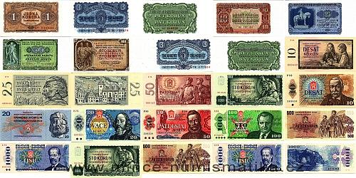 25 kusů neplatných bankovek a státovek