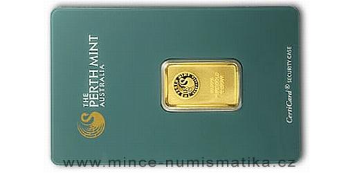 Zlatý slitek 10 g Kangaroo (Perth Mint)