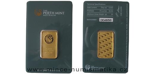 Zlatý slitek 20 g Kangaroo (Perth Mint)