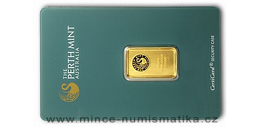 Zlatý slitek 5 g Kangaroo (Perth Mint)