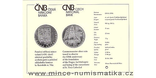 xcertifikat_200_Kc_1994_katedrala_sv_Vita